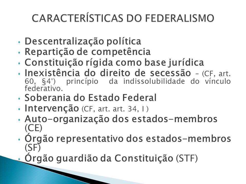 A República Federativa do Brasil é formada pela União, Estados, Distrito Federal e Municípios.