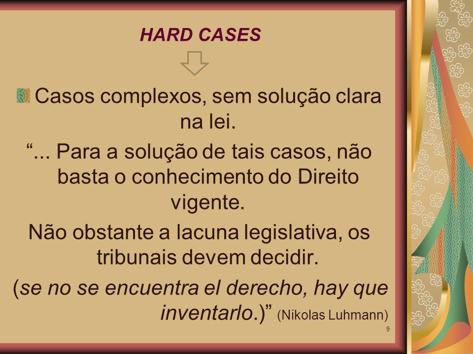 Se o compromisso do Judiciário fosse apenas o de impor a letra legal, e só ela, aos fatos, a função judicial não corresponderia àquilo para que foi criada: realizar o direito objetivo.