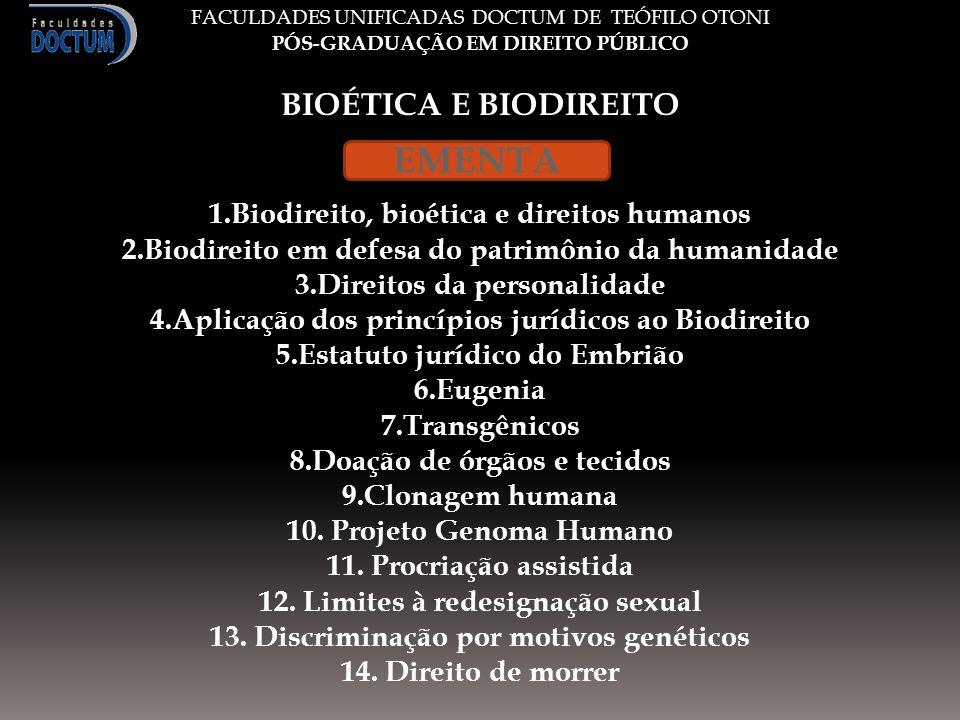 Bioética nada mais é do que os deveres do ser humano com o outro ser humano e de todos para com a humanidade.