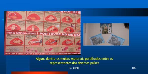 Alguns dentre os muitos materiais partilhados entre os representantes dos diversos países Pe. Bento186