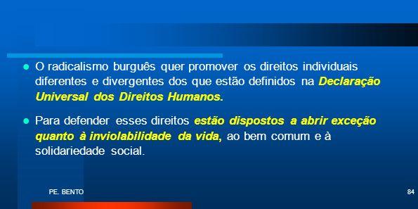 PE. BENTO84 O radicalismo burguês quer promover os direitos individuais diferentes e divergentes dos que estão definidos na Declaração Universal dos D