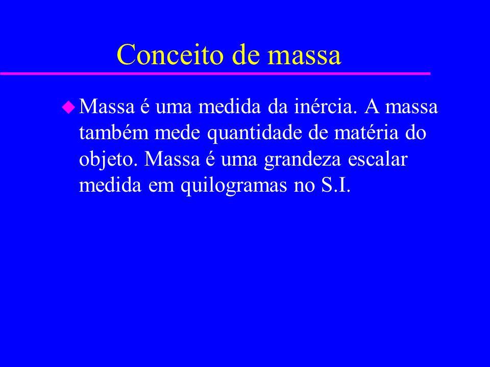 Conceito de massa u Massa é uma medida da inércia.