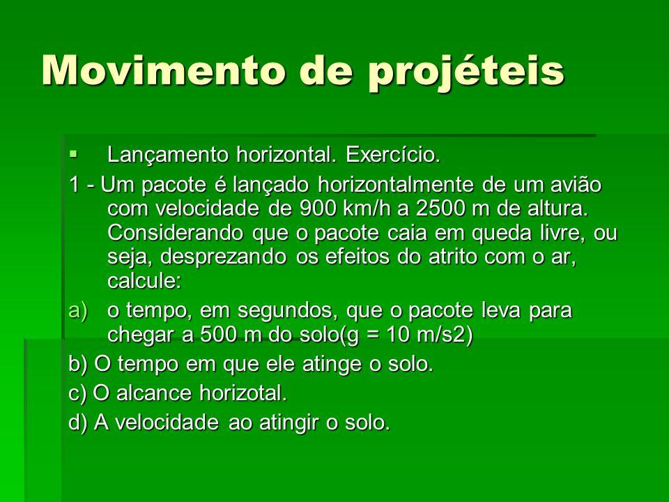 Movimento de projéteis Lançamento Oblíquo.Lançamento Oblíquo.
