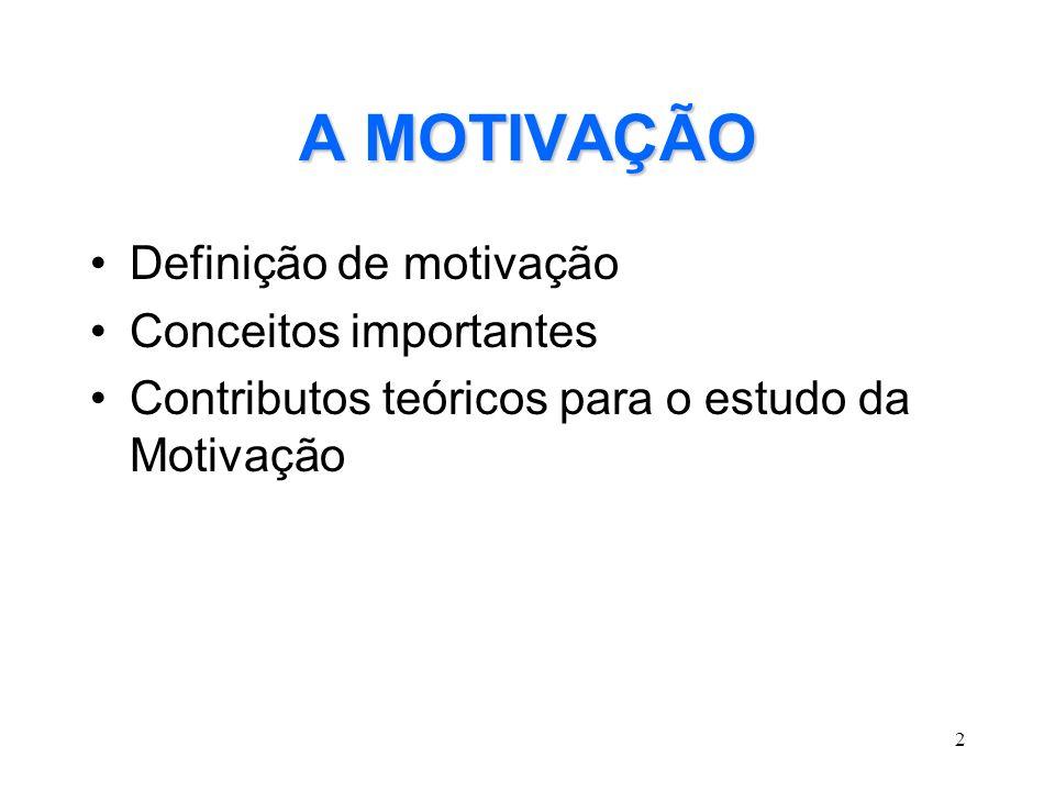 3 Definição de Motivação É UM ESTADO INTERNO QUE RESULTA DE UMA NECESSIDADE E QUE ACTIVA UM COMPORTAMENTO DIRIGIDO À SUA SATISFAÇÃO.