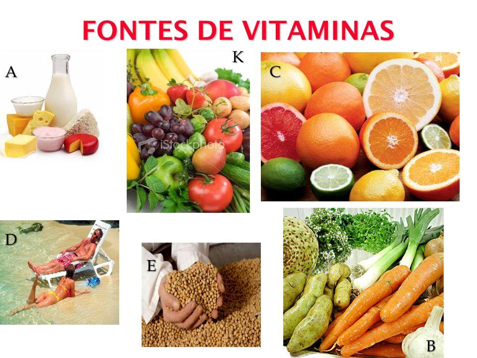 FONTES DE VITAMINAS A D E K B C