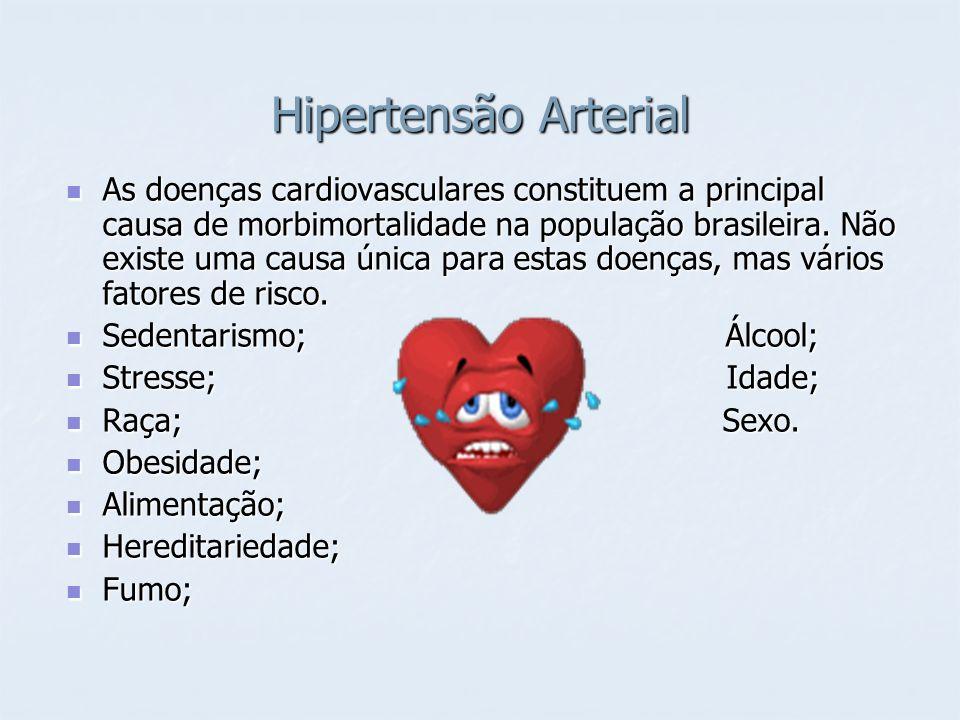 Hipertensão Arterial As doenças cardiovasculares constituem a principal causa de morbimortalidade na população brasileira. Não existe uma causa única