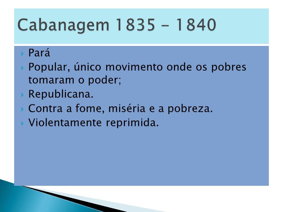 Pará Popular, único movimento onde os pobres tomaram o poder; Republicana.