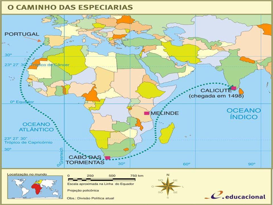 No ano de 1498, Portugal realiza uma das mais importantes navegações: é a chegada das caravelas, comandadas por Vasco da Gama às Índias. Navegando ao