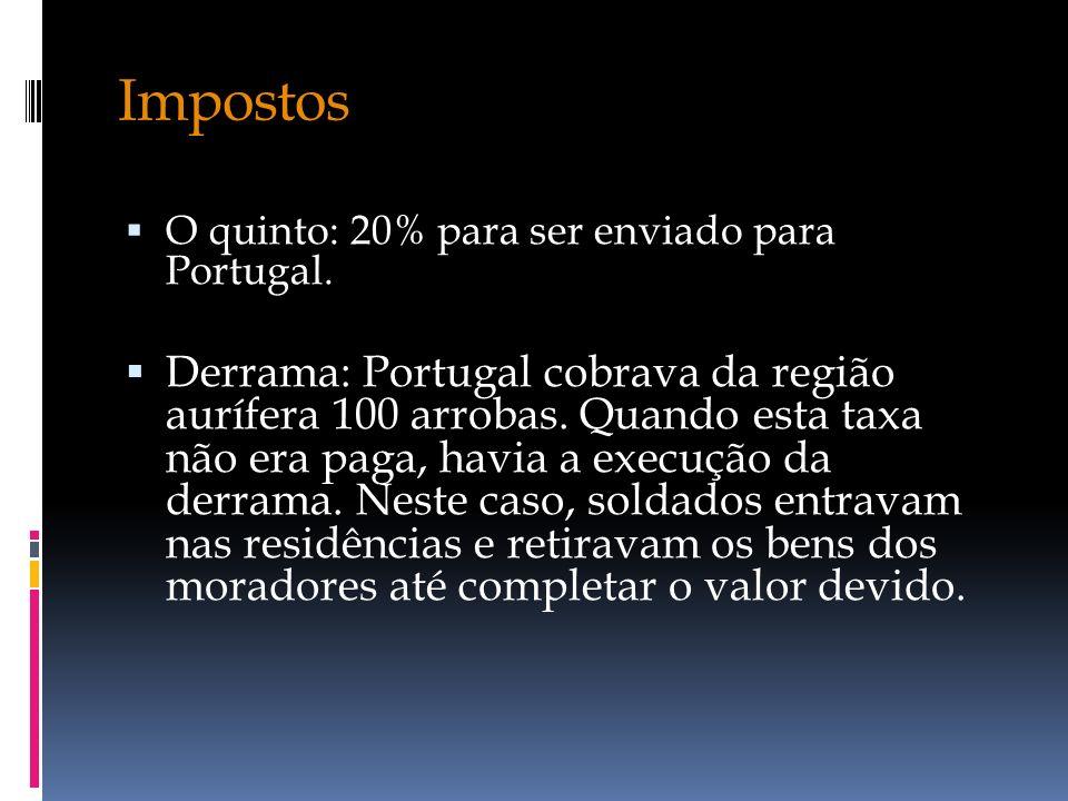 Impostos O quinto: 20% para ser enviado para Portugal.