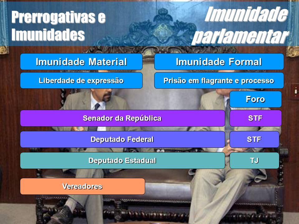 Wagner Soares de Lima Prerrogativas e Imunidades Imunidade parlamentar...não poderão ser presos, salvo em flagrante de crime inafiançável...