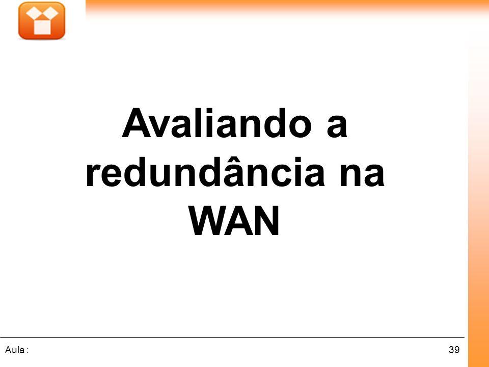 39Aula : Avaliando a redundância na WAN