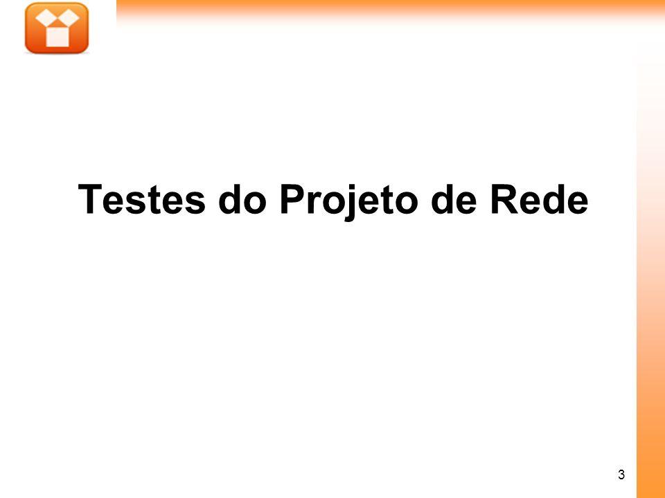 3 Testes do Projeto de Rede