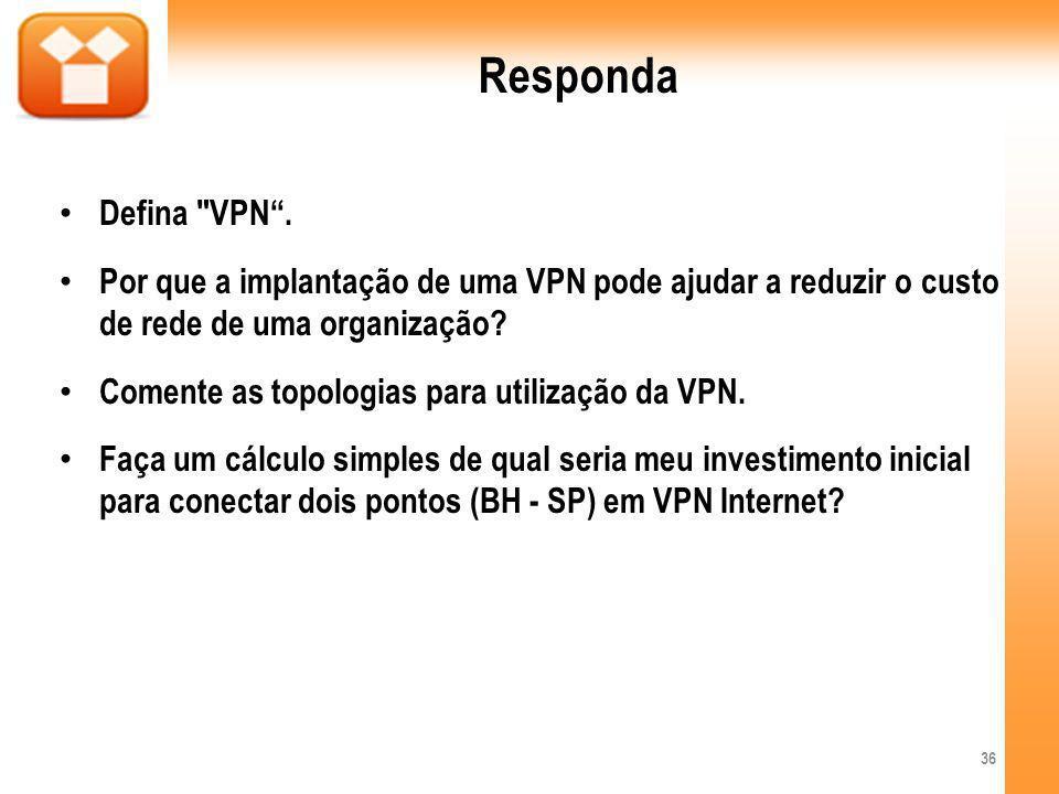 Responda Defina VPN.