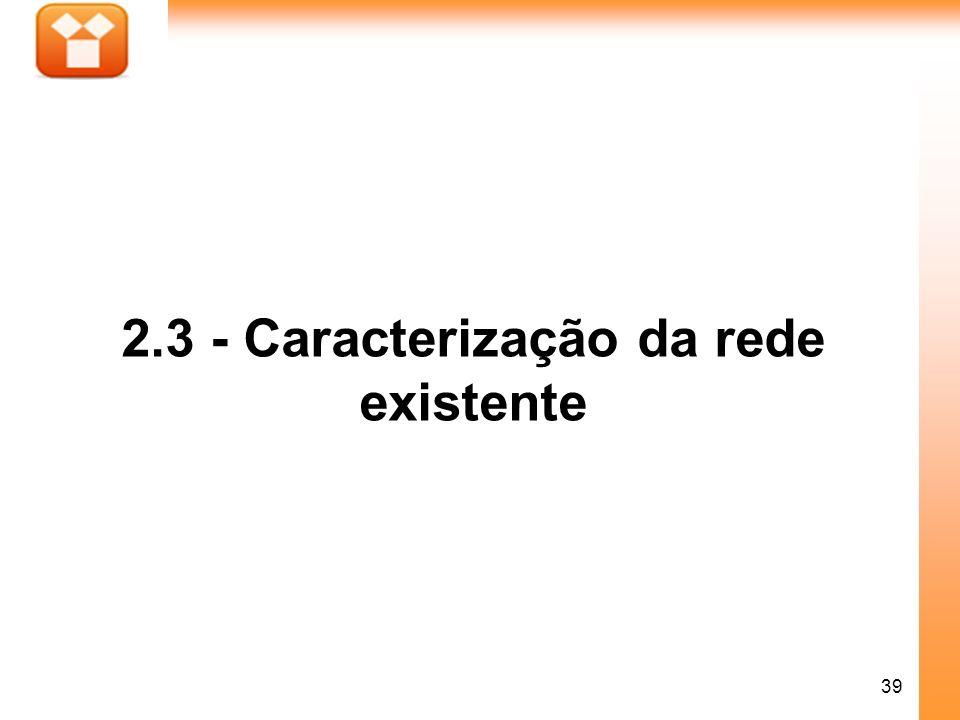 39 2.3 - Caracterização da rede existente