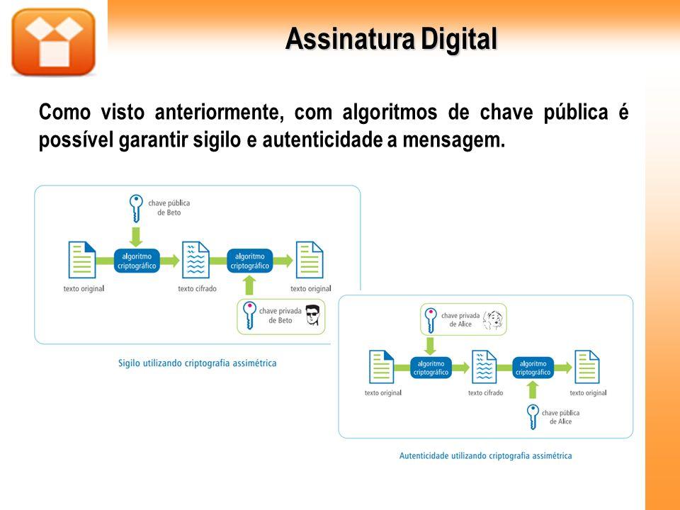 Certificado Digital Em outras palavras, emitindo a chave pública em nome de um terceiro, um intruso poderia se passar por ele e interceptar as informações.