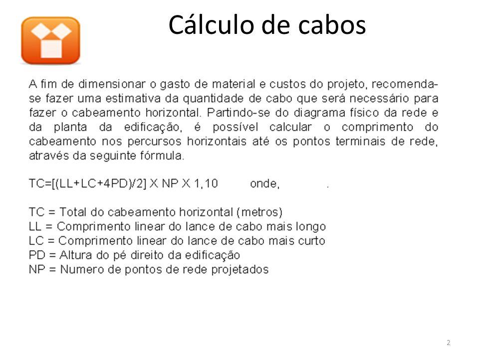 Cálculo de cabos 2