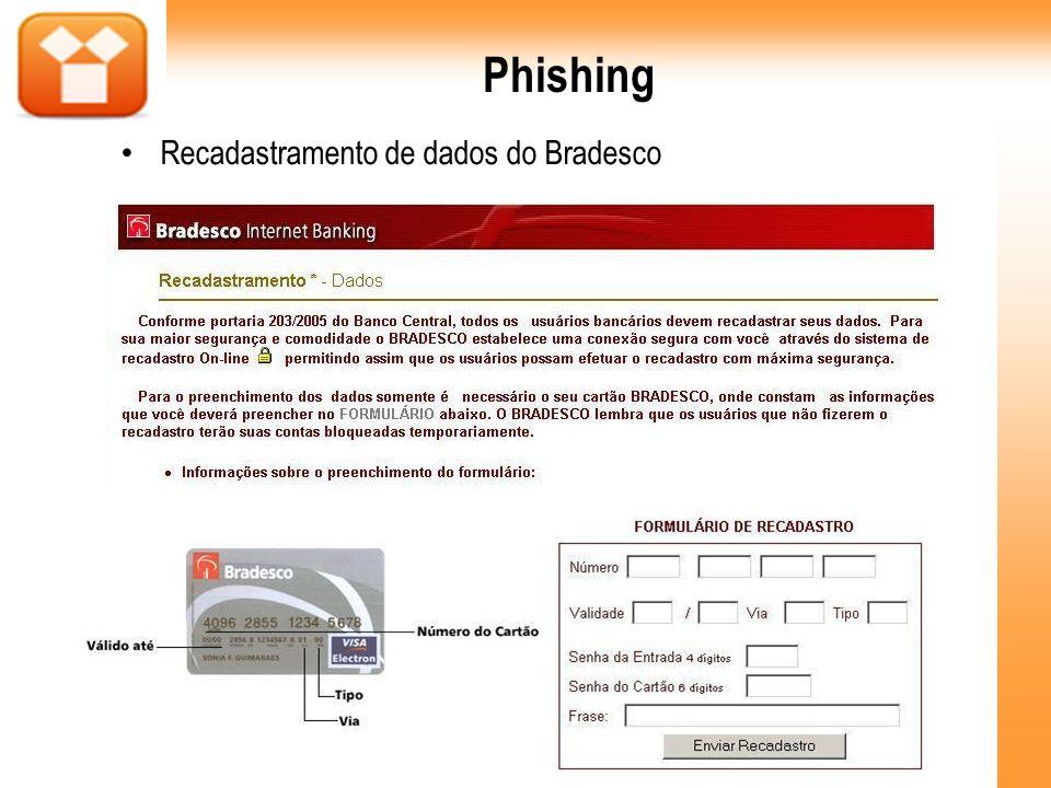 Phishing Recadastramento de dados do Bradesco