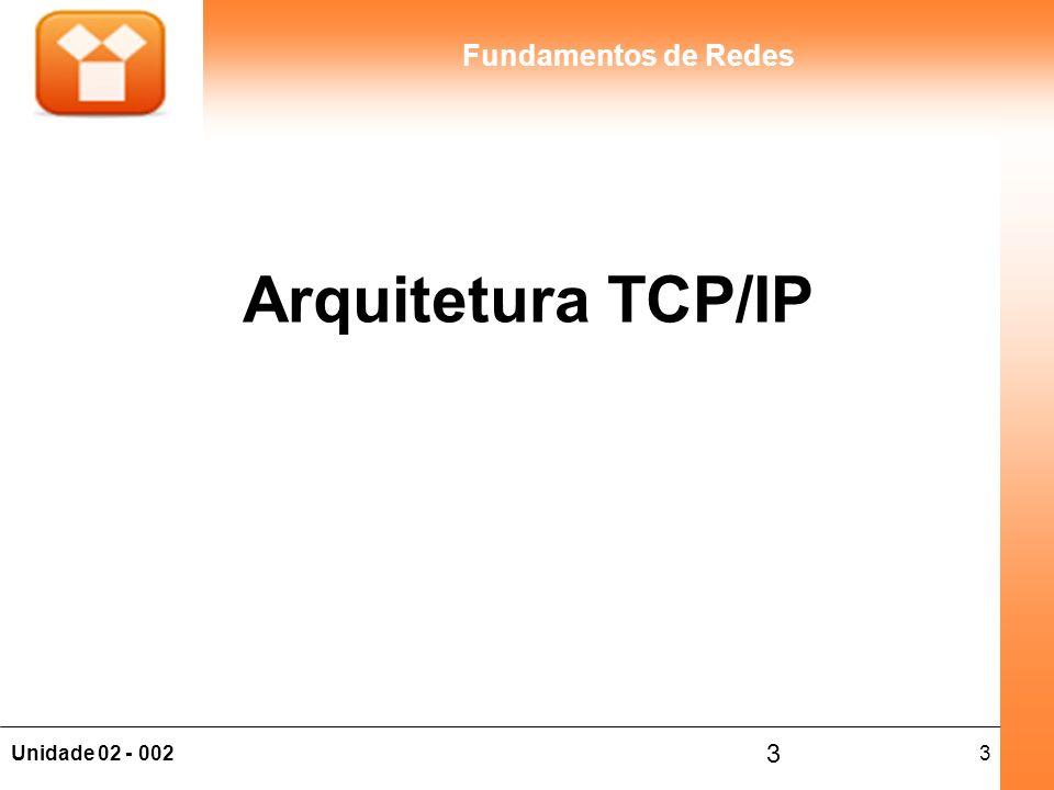 3Unidade 02 - 002 Fundamentos de Redes 3 Arquitetura TCP/IP
