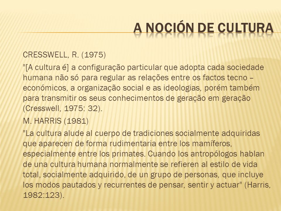 CRESSWELL, R. (1975)