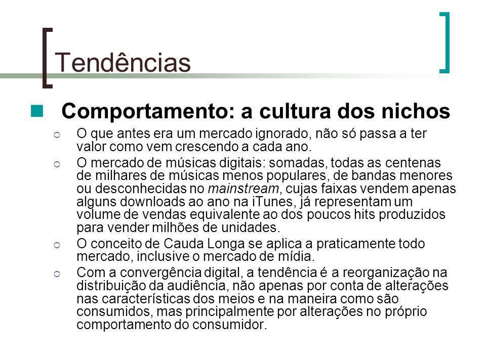 Tendências Comportamento: a cultura dos nichos O que antes era um mercado ignorado, não só passa a ter valor como vem crescendo a cada ano. O mercado