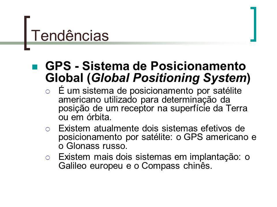 Tendências GPS - Sistema de Posicionamento Global (Global Positioning System) É um sistema de posicionamento por satélite americano utilizado para det