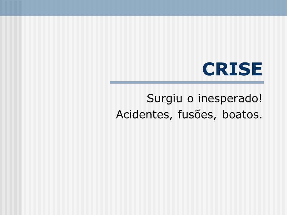 CRISE Surgiu o inesperado! Acidentes, fusões, boatos.