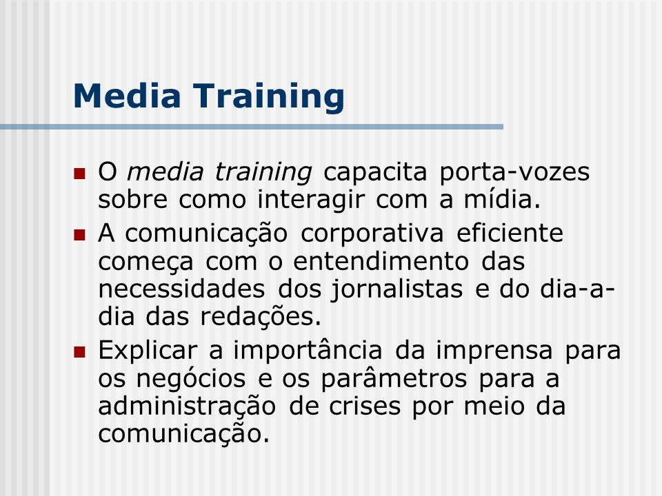 O media training capacita porta-vozes sobre como interagir com a mídia.
