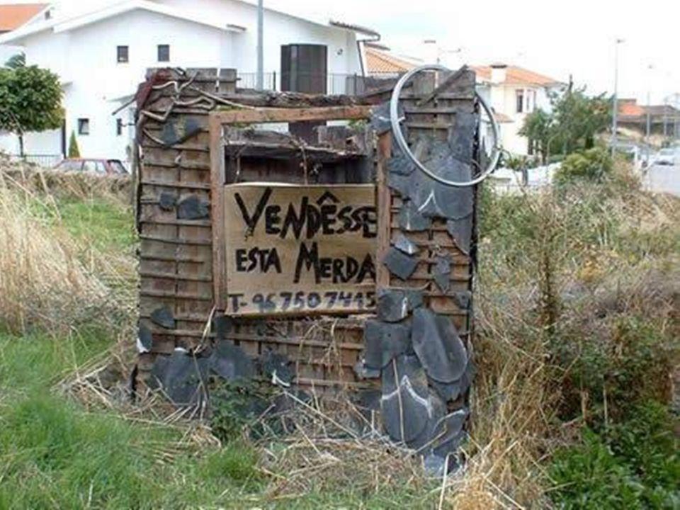 Referências de fotos Foto 1: www.flickr.com/photos/juliofranca/326091237/www.flickr.com/photos/juliofranca/326091237/ Foto 2: zebatalha.blogspot.com/2008/01/vende-se.htmlzebatalha.blogspot.com/2008/01/vende-se.html Foto 3: http://www.prespace.net/public/shared/vende-se.jpghttp://www.prespace.net/public/shared/vende-se.jpg Foto 4: www.humorbabaca.com/fotos/placas-e-textos/vendesewww.humorbabaca.com/fotos/placas-e-textos/vendese
