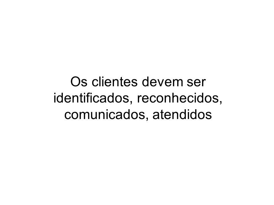 Os clientes devem ser identificados, reconhecidos, comunicados, atendidos