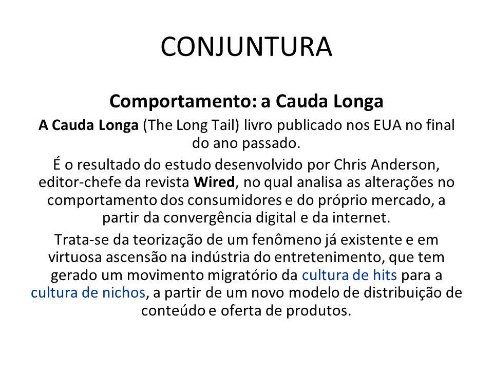 CONJUNTURA Comportamento: a Cauda Longa A Cauda Longa (The Long Tail) livro publicado nos EUA no final do ano passado. É o resultado do estudo desenvo