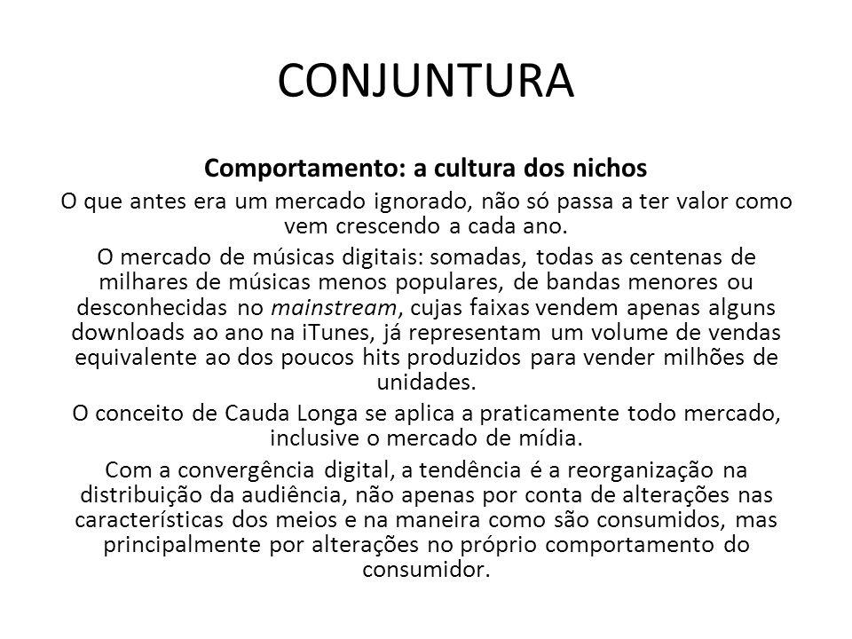 CONJUNTURA Comportamento: a cultura dos nichos O que antes era um mercado ignorado, não só passa a ter valor como vem crescendo a cada ano. O mercado