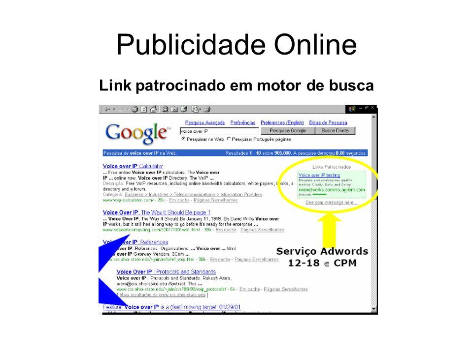Publicidade Online Link patrocinado em motor de busca