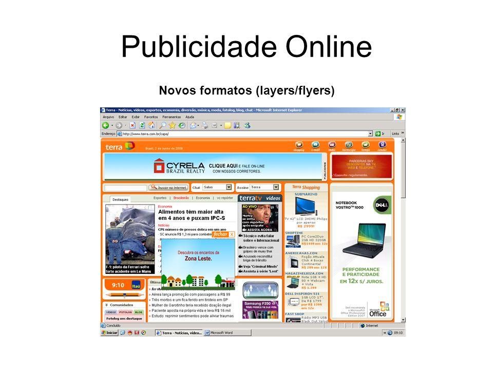 Publicidade Online Novos formatos (layers/flyers)