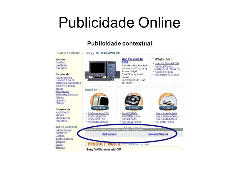 Publicidade Online Publicidade contextual