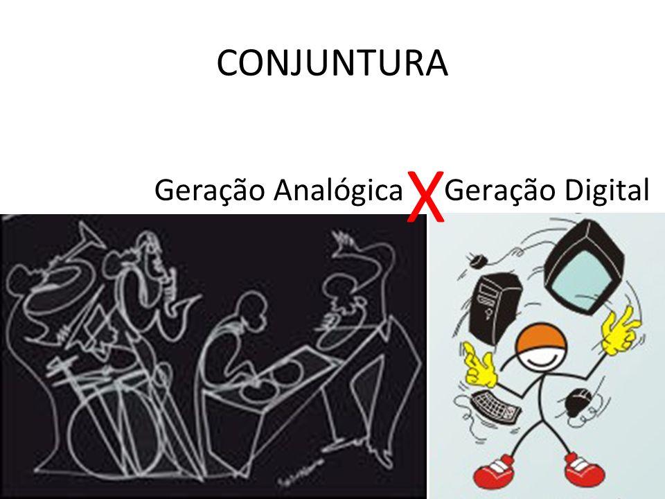 Geração Digital CONJUNTURA Geração Analógica X