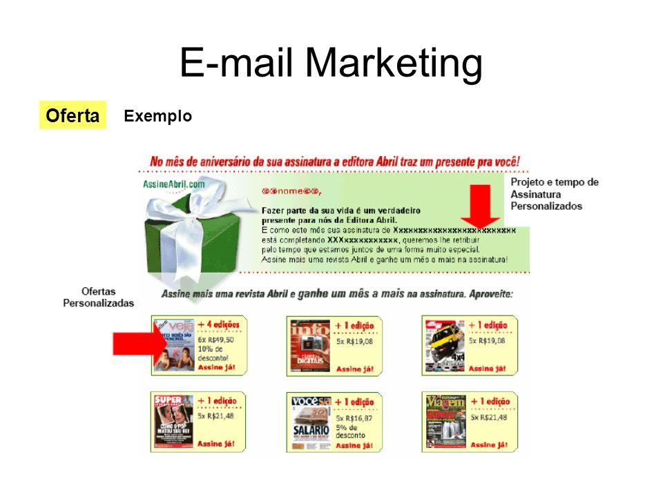 E-mail Marketing Oferta Exemplo