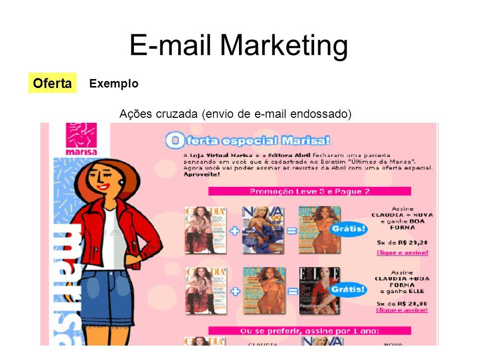 E-mail Marketing Ações cruzada (envio de e-mail endossado) Oferta Exemplo