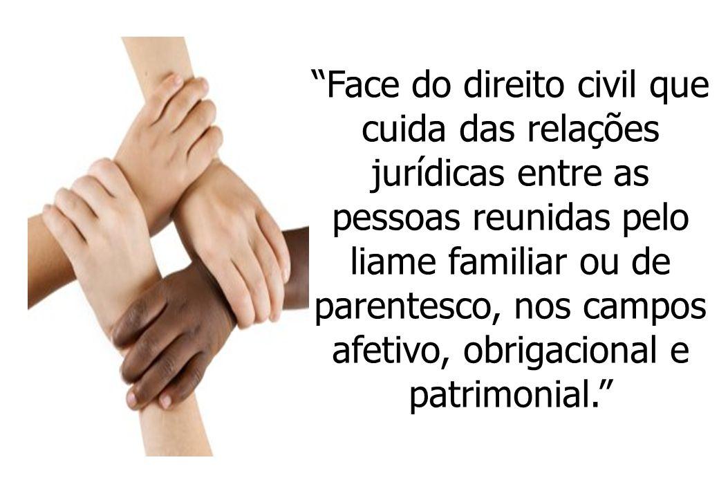 Face do direito civil que cuida das relações jurídicas entre as pessoas reunidas pelo liame familiar ou de parentesco, nos campos afetivo, obrigaciona