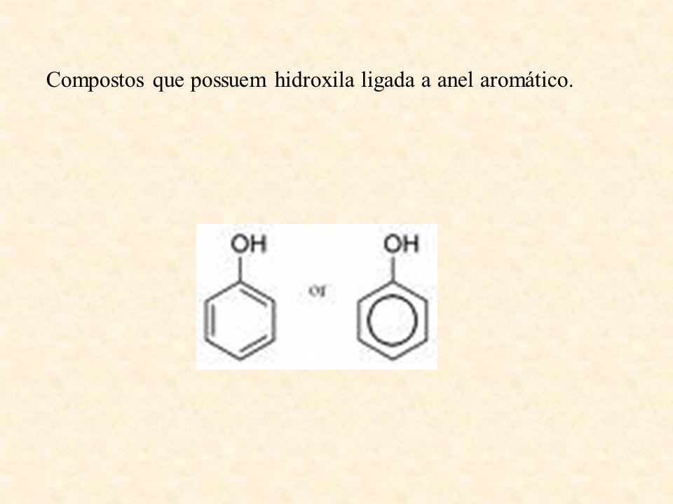 Compostos que possuem hidroxila ligada a anel aromático.