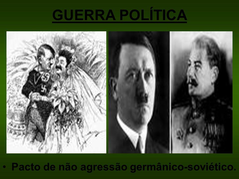GUERRA POLÍTICA Pacto de não agressão germânico-soviético.