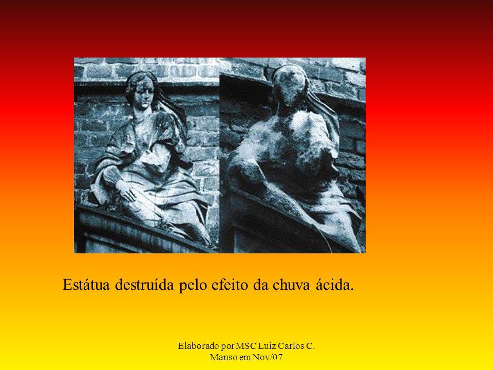 Elaborado por MSC Luiz Carlos C. Manso em Nov/07 Estátua destruída pelo efeito da chuva ácida.