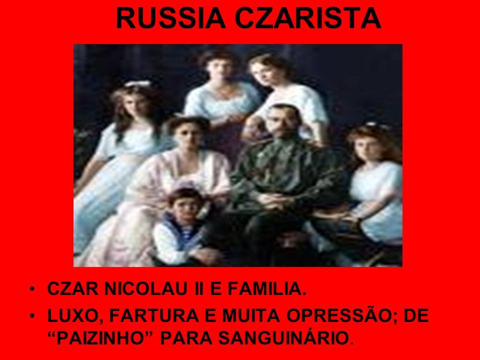 RUSSIA CZARISTA CZAR NICOLAU II E FAMILIA. LUXO, FARTURA E MUITA OPRESSÃO; DE PAIZINHO PARA SANGUINÁRIO.