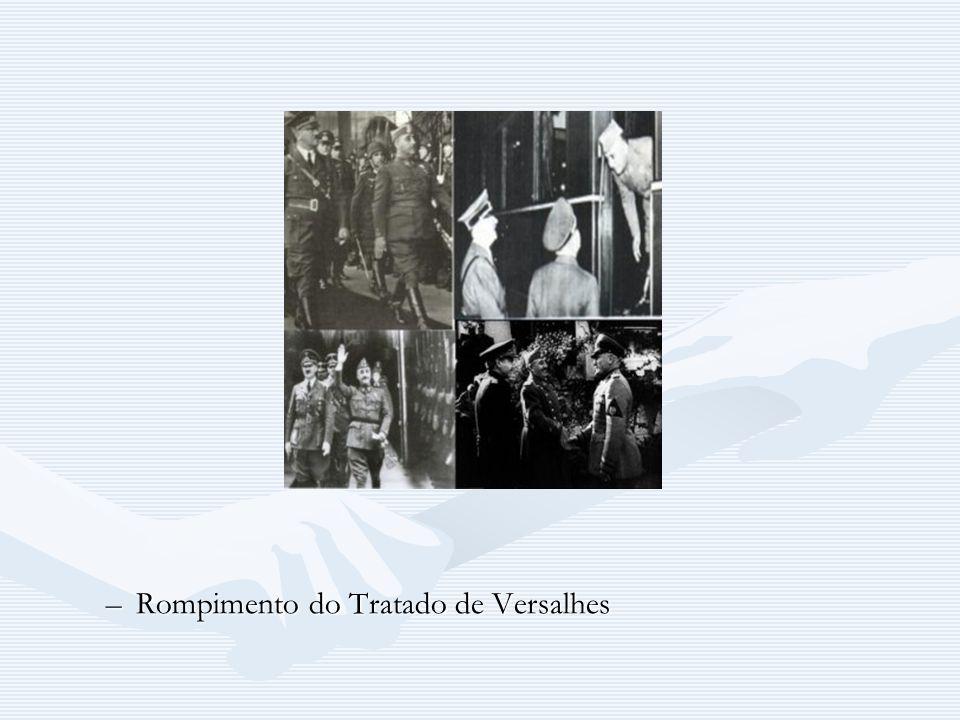 –Rompimento do Tratado de Versalhes
