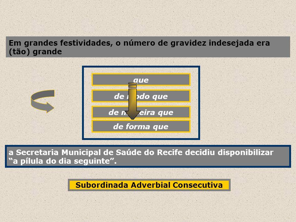 Em grandes festividades, o número de gravidez indesejada era (tão) grande que a Secretaria Municipal de Saúde do Recife decidiu disponibilizar a pílul