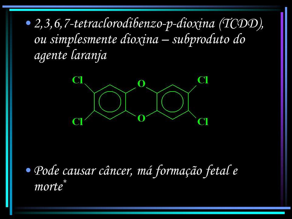 Agente desfolhante – mistura de compostos que imitam o mecanismo dos hormônios de crescimento das plantas, acelerando-o desmesuradamente.