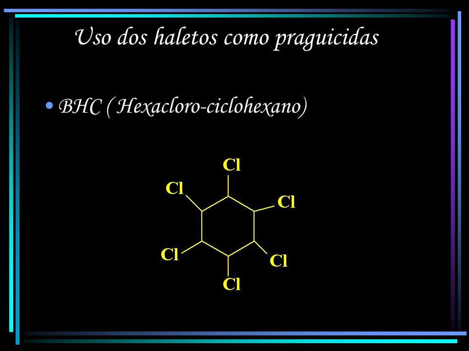 2,3,6,7-tetraclorodibenzo-p-dioxina (TCDD), ou simplesmente dioxina – subproduto do agente laranja Pode causar câncer, má formação fetal e morte *