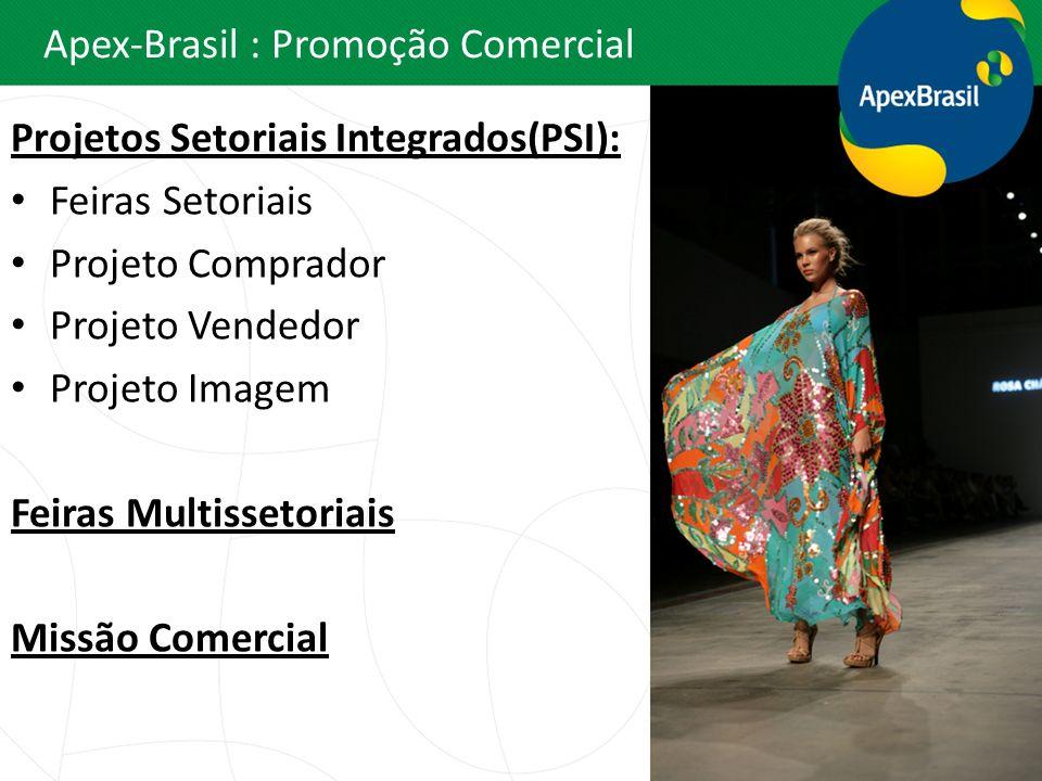 Apex-Brasil : Promoção Comercial Projetos Setoriais Integrados(PSI): Feiras Setoriais Projeto Comprador Projeto Vendedor Projeto Imagem Feiras Multiss