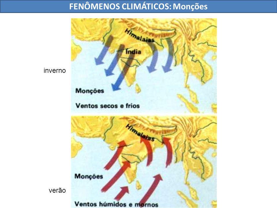 FENÔMENOS CLIMÁTICOS: Monções verão inverno