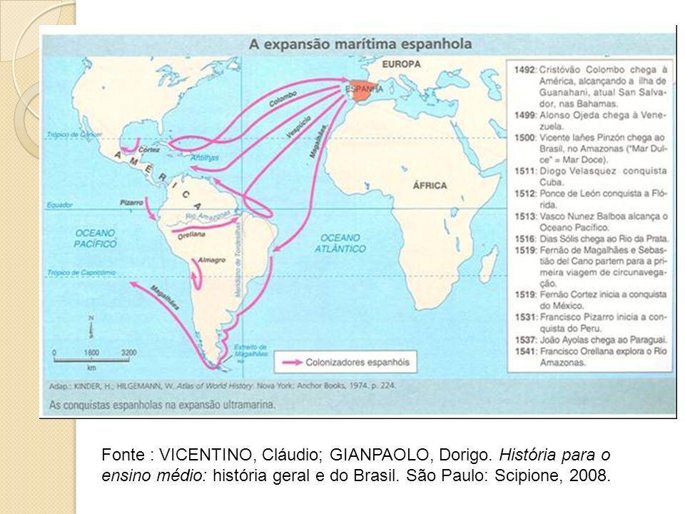Fonte : VICENTINO, Cláudio; GIANPAOLO, Dorigo. História para o ensino médio: história geral e do Brasil. São Paulo: Scipione, 2008.