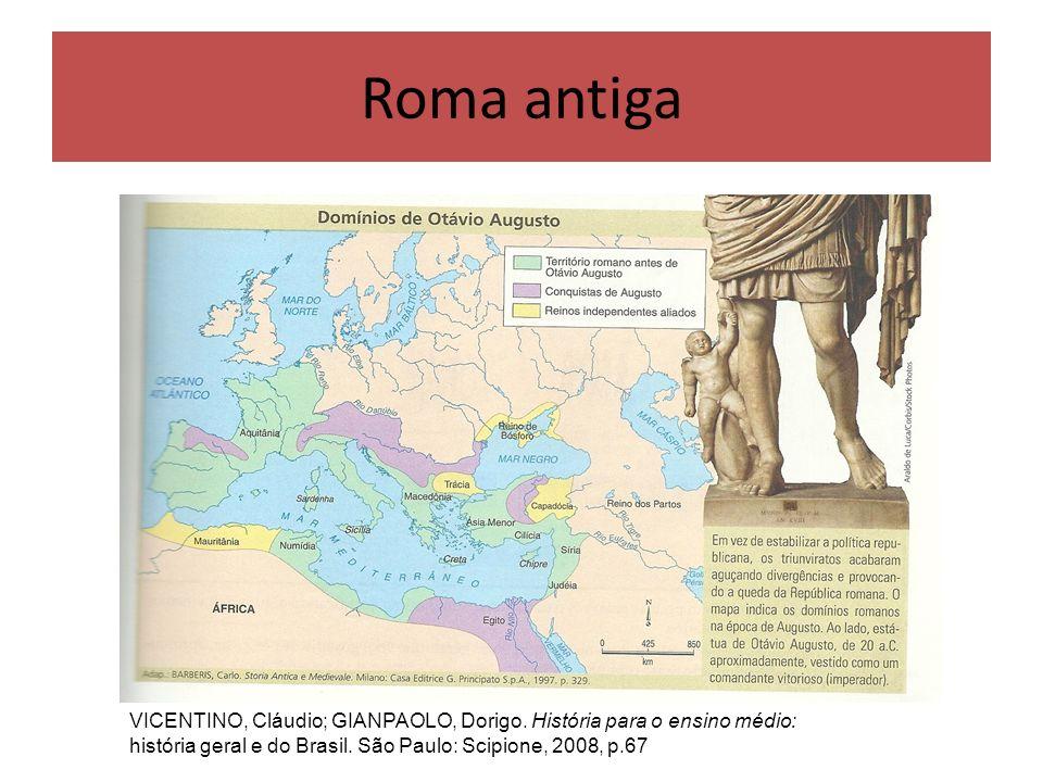 A história da Roma antiga foi dividida em três períodos: Monarquia (+ou – 753 a.